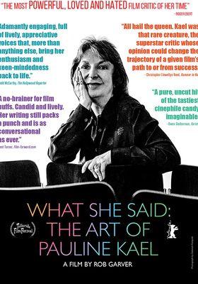 『What She Said: The Art of Pauline Kael (原題)』のポスター